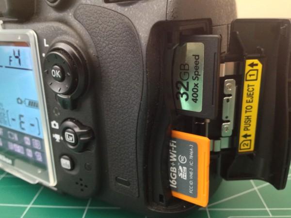 Nikon D600 SDHC Cards
