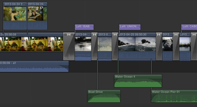 Final Cut Pro X Timeline Close Up