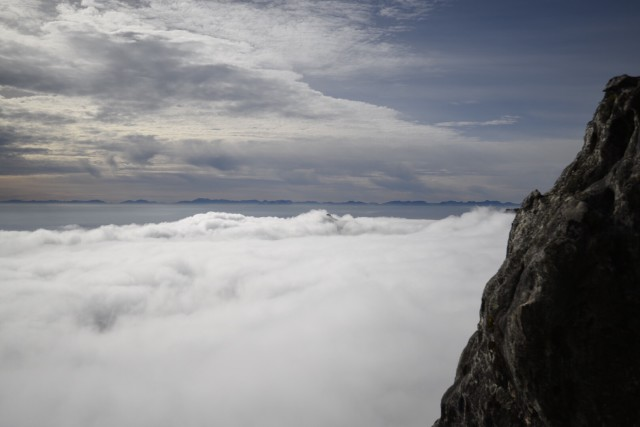 Clouds over Cape Town from Table Mountain