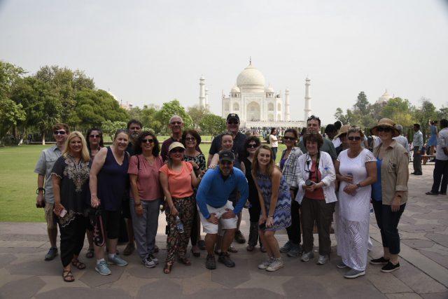 Milford travelers at the Taj Mahal