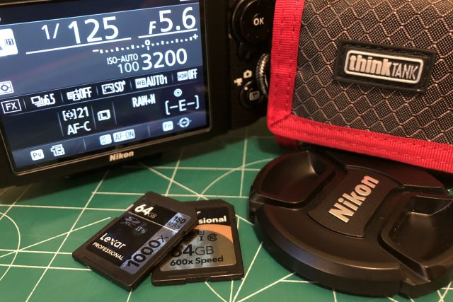 Nikon D750 DSLR with Lexar 64GB SDXC Cards