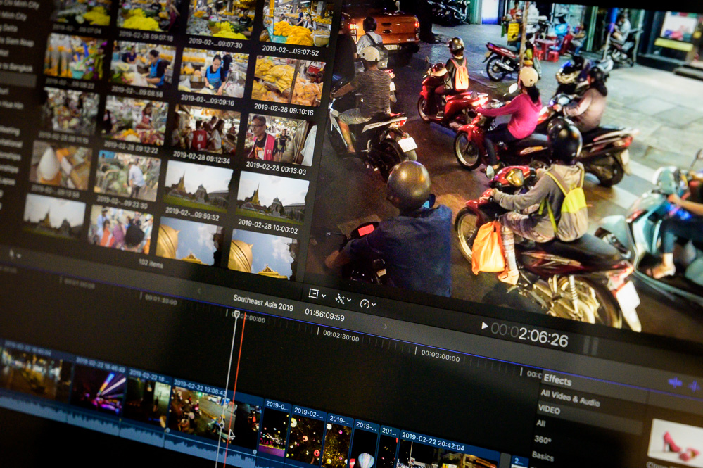 Southeast Asia Video Clips in Apple Final Cut Pro X